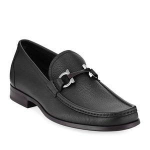 Salvatore Ferragamo Men's Grained Leather Shoes